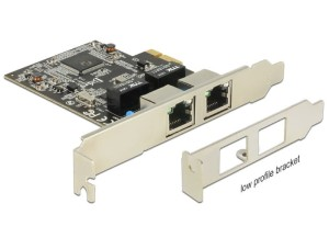 Delock Karta PCI Express 2xGigabit LAN